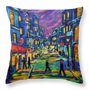 Rural City Scape By Prankearts Throw Pillow