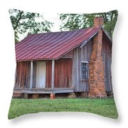 Rural Georgia Cabin Throw Pillow
