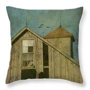 Rural Iowa Barn 5 Throw Pillow