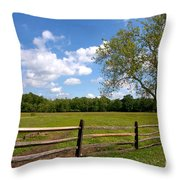 Rural Landscape Throw Pillow