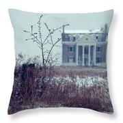 Rural Mansion Throw Pillow