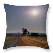 Rural Montana Sunrise Throw Pillow