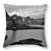 Rural Norwegian Spring Fjordland Throw Pillow