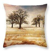 Rural Oaks Throw Pillow