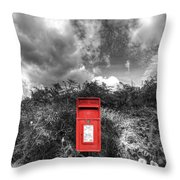 Rural Post Box Throw Pillow by Mal Bray