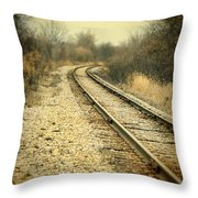 Rural Railroad Tracks Throw Pillow