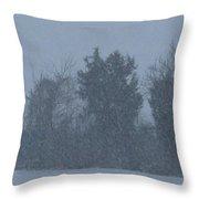 Rural Snowfall Throw Pillow