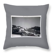 Rural Washday 1969 - Nostalgic Memories Throw Pillow