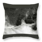 Rush Around The Rocks Throw Pillow