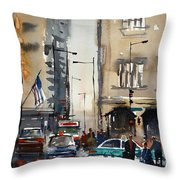 Rush Hour - Chicago Throw Pillow