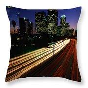 Rush Hour Harbor Freeway Los Angeles Ca Throw Pillow