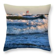 Rush Hour On Cape Cod Throw Pillow