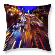 Rush Hour Traffic On North Capitol Show Throw Pillow