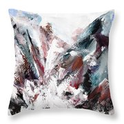 Rushing Down The Cliff Throw Pillow