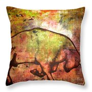 Rushing Matador Throw Pillow