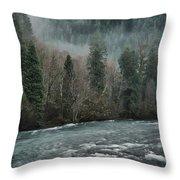 Rushing Mckenzie River Throw Pillow
