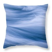 Rushing River Throw Pillow