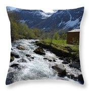 Rushing Stream Throw Pillow