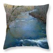 Rushing Vickery Creek Throw Pillow