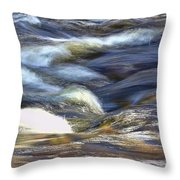 Silky Water Throw Pillow