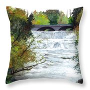 Rushing Water - Quiet Thoughts Throw Pillow