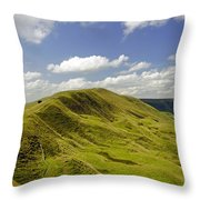 Rushup Edge From Mam Tor Throw Pillow