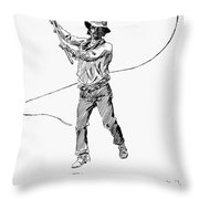 Russell Bull Whacker Throw Pillow