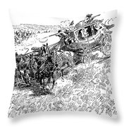 Russell Overland Stage Throw Pillow