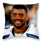 Russell Wilson Back To The Super Bowl Throw Pillow