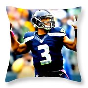 Russell Wilson Smooth Delivery Throw Pillow