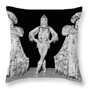 Russian Claudia Ballet Dancers Throw Pillow by Underwood Archives