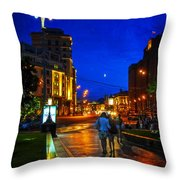 Russian Evening Throw Pillow