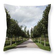 Russian Garden - St. Petersburg - Russia Throw Pillow