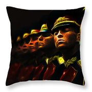 Russian Honor Guard - Featured In Men At Work Group Throw Pillow