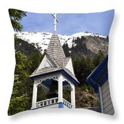 Russian Orthodox Church Bell Tower Throw Pillow