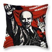 Russian Revolution October 1917 Vladimir Ilyich Lenin Ulyanov  1870 1924 Russian Revolutionary Throw Pillow