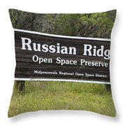 Russian Ridge Open Space Preserve Throw Pillow