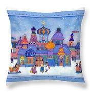 Russian Snowfall Fantasy Throw Pillow