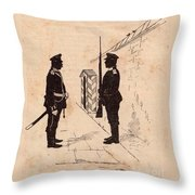 Russian Soldiers Throw Pillow