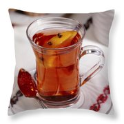 Russian Tea Throw Pillow