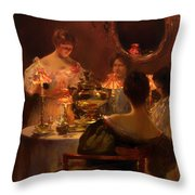 Russian Tea Throw Pillow