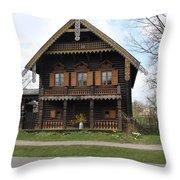 Russian Village - Potsdam Throw Pillow