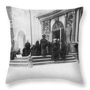 Russians Pray For Wwi Victory Throw Pillow