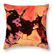 Rust And Paint - 519 Throw Pillow