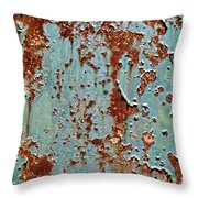 Rust And Paint Throw Pillow