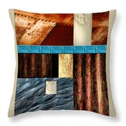 Rust And Rocks Rectangles Throw Pillow