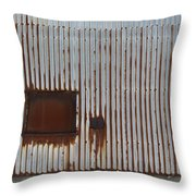 Rust And Window 2 Throw Pillow