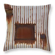 Rust And Window 3 Throw Pillow