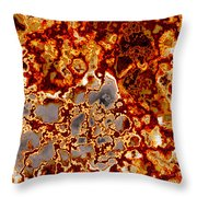 Rust-coloured Quartz Throw Pillow