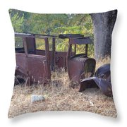 Rust In Full Bloom Throw Pillow